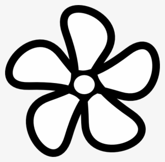 Free Black And White Flower Clip Art with No Background.