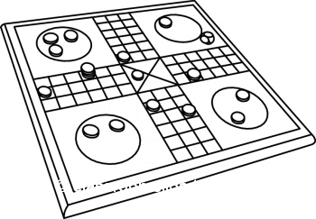 Board Game Black And White Clipart.