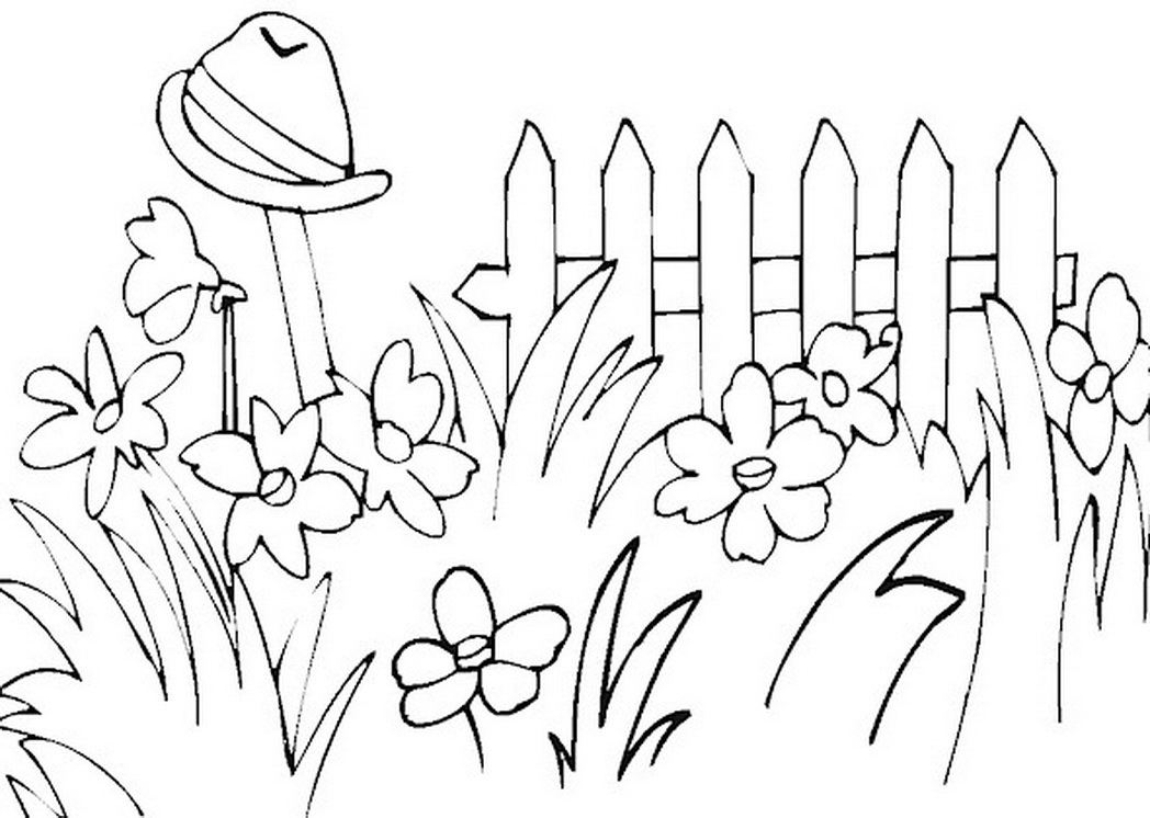 Gardening coloring pages to download and print for free.
