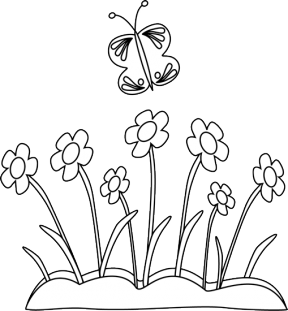 Garden Box Black And White Clipart.