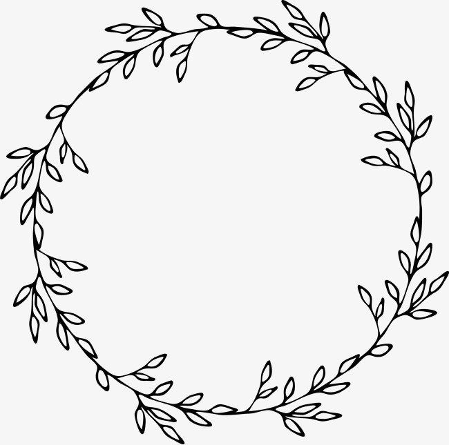 Garland clipart black and white, Garland black and white.
