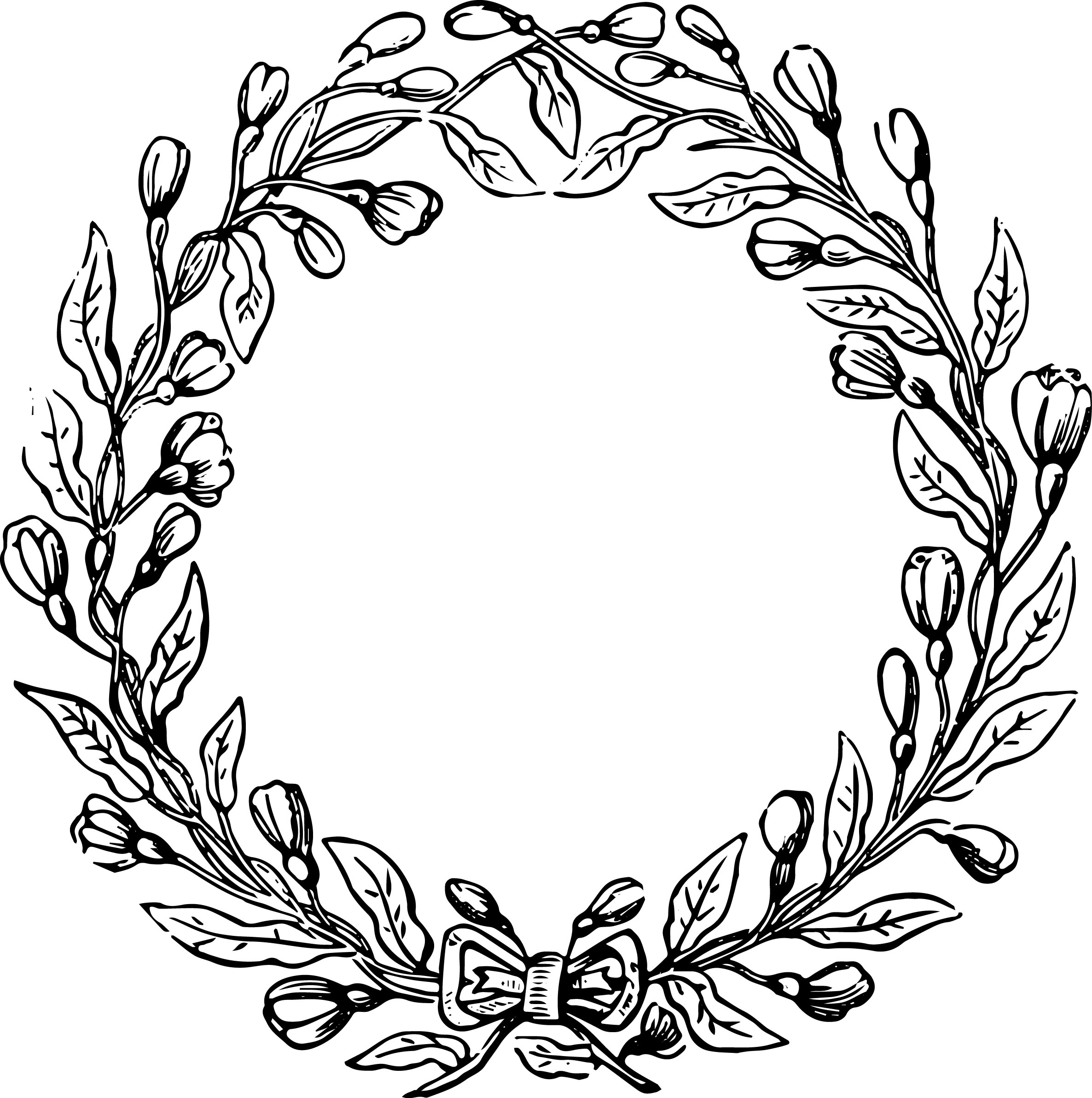 Free Garland Clipart Black And White, Download Free Clip Art.