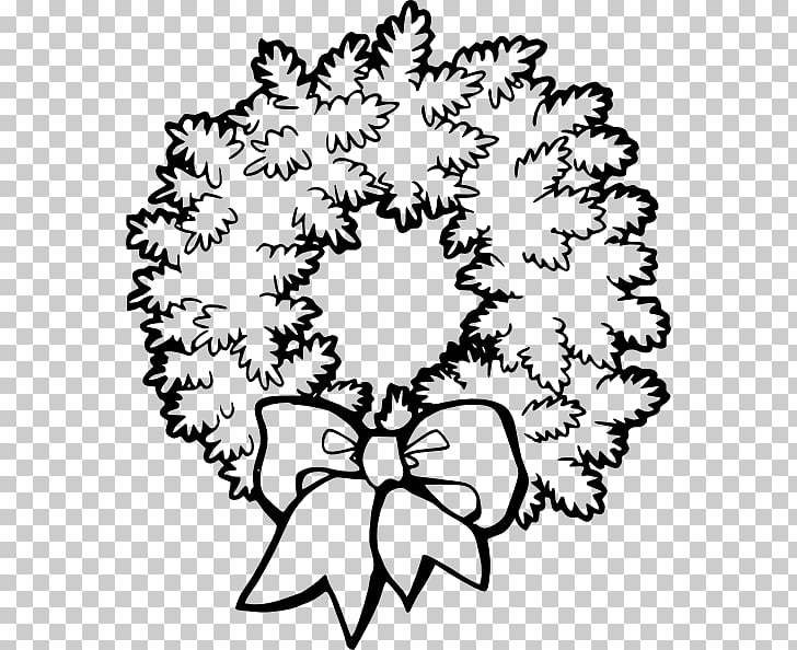 Christmas Wreath Garland , Free Black And White Christmas.