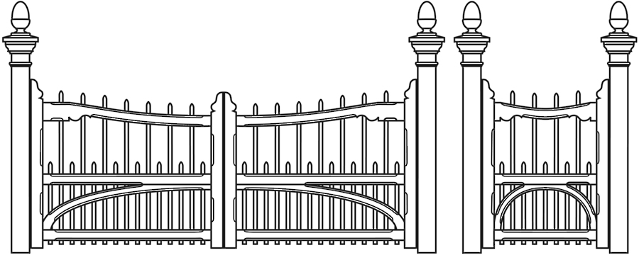 House Gate Clipart.