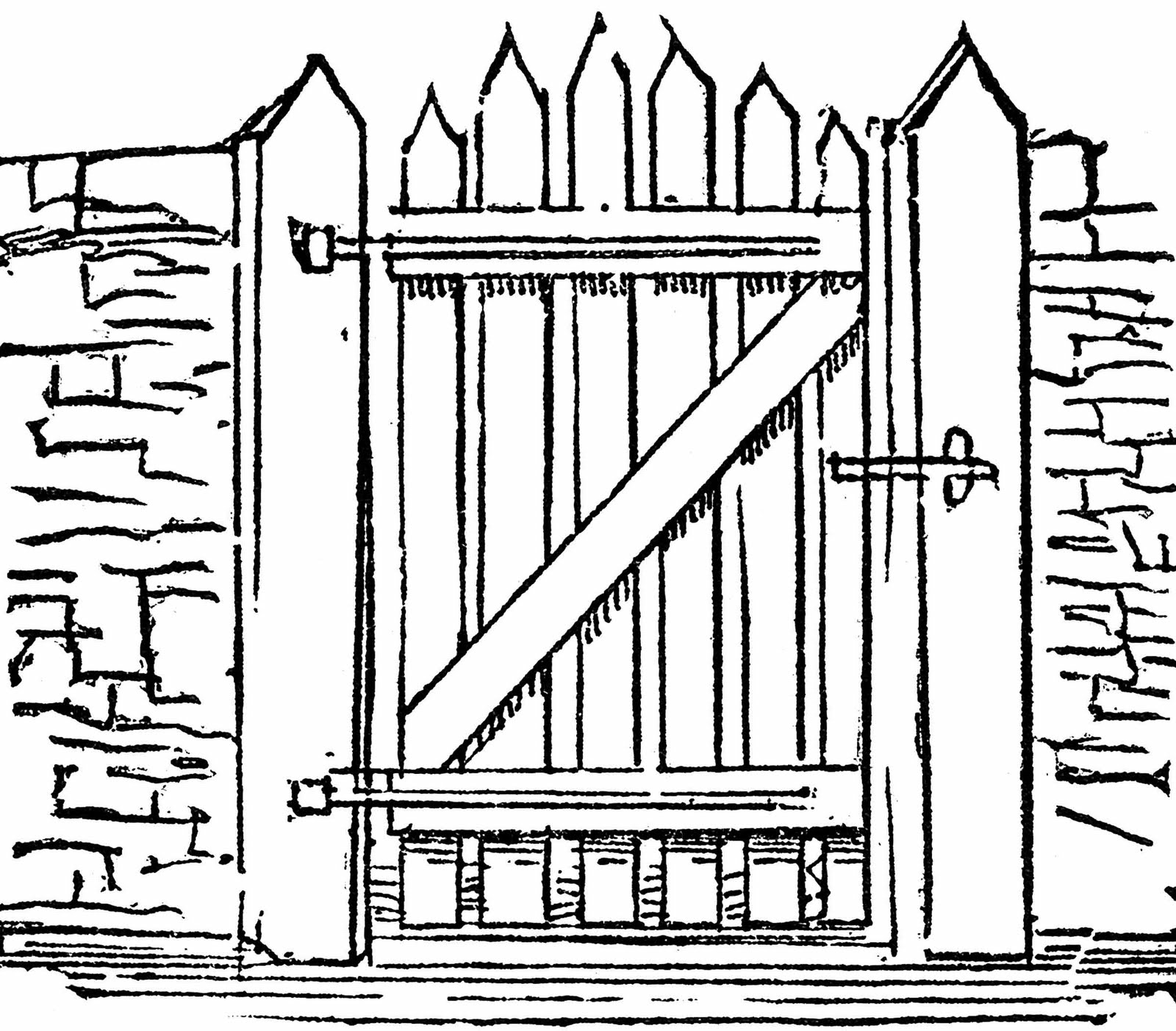 Free Gate Clipart Black And White, Download Free Clip Art.