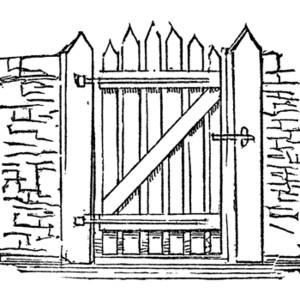 2351 Gate free clipart.