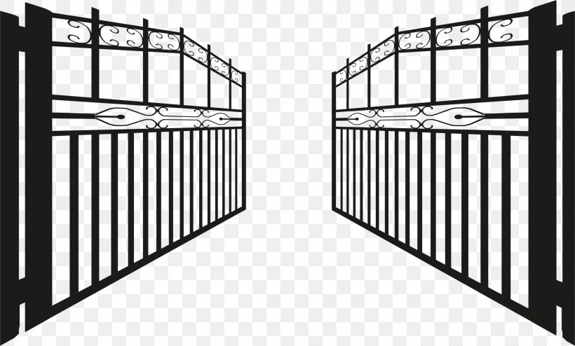Gate Fence Clip Art, PNG, 2228x1344px, Gate, Architecture.
