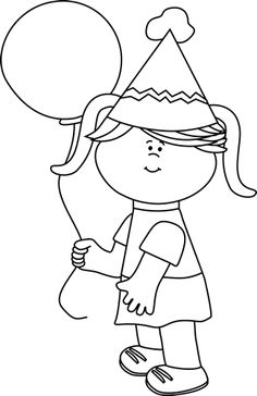 Black And White Clipart Girl