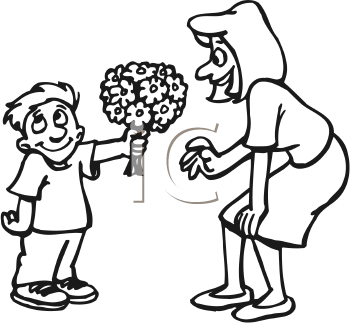 Giving Gift Clipart Black And White.