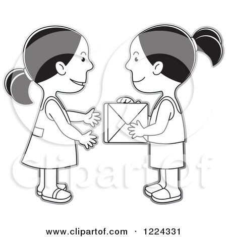 Gift Giving Clipart Black And White.