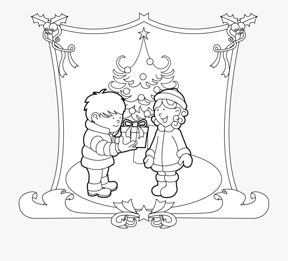 Gift Giving Clipart.