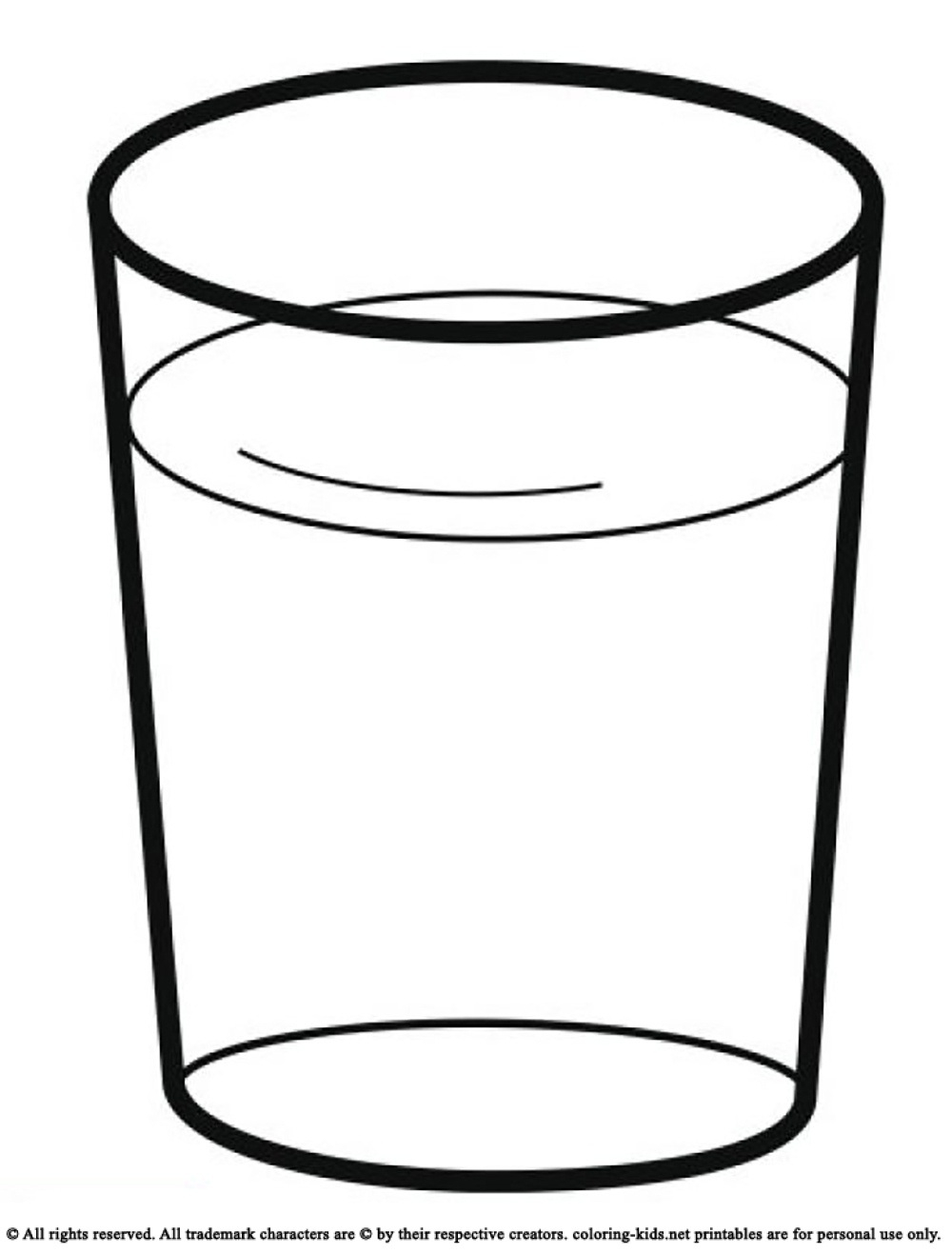 Water Glass Clipart Black And White.