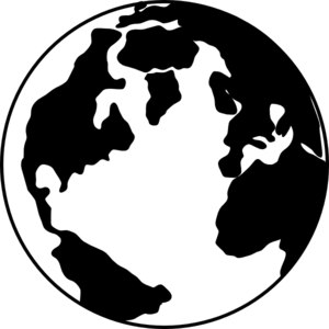 Globe Clipart Black And White.
