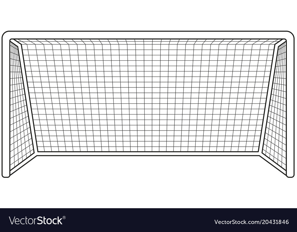 Black and white soccer gate icon.