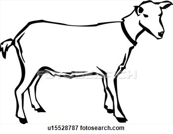 Clipart Of Goat Black And White Clipground