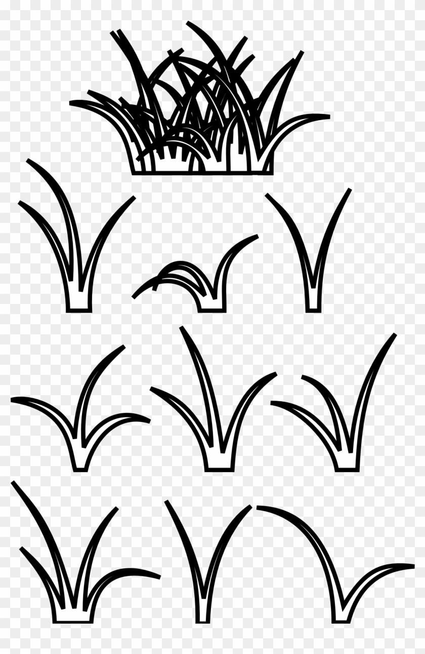 Grass Clip Art Black And White Clipart Download.