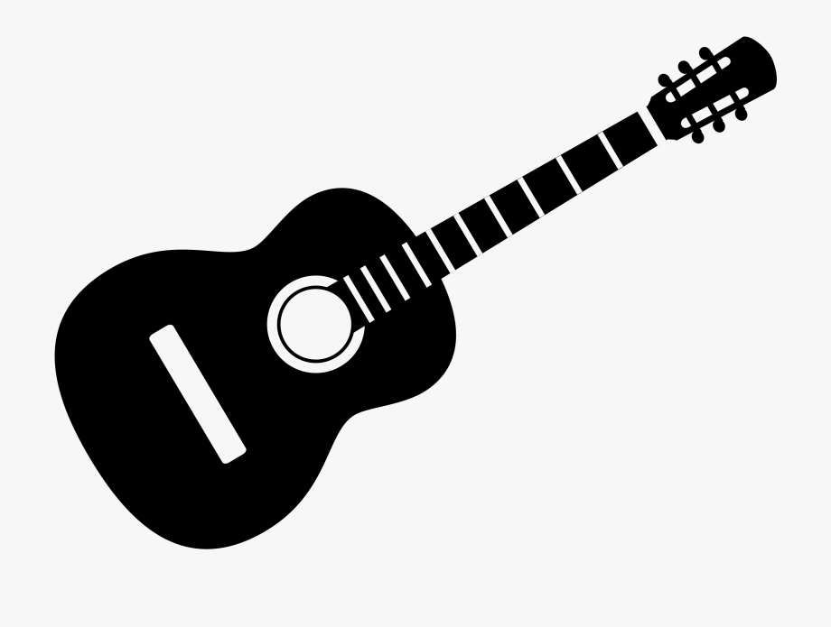 Guitar Clip Art Black And White.