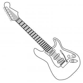 Guitar black and white clipart 4 » Clipart Station.