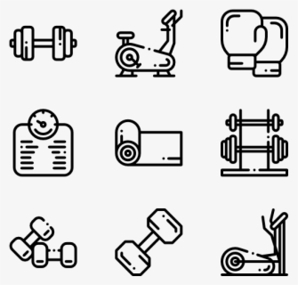 Free Gym Black And White Clip Art with No Background.