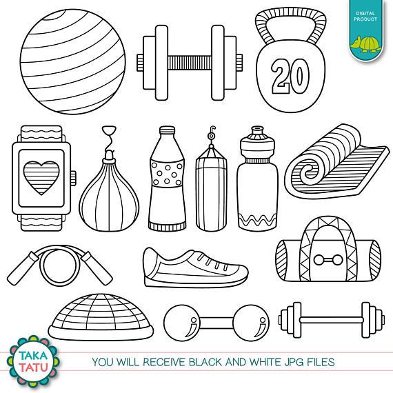 Workout Time Digital Stamp Pack.