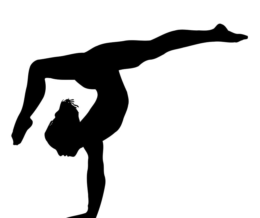 Free Black And White Gymnastics Pictures, Download Free Clip.