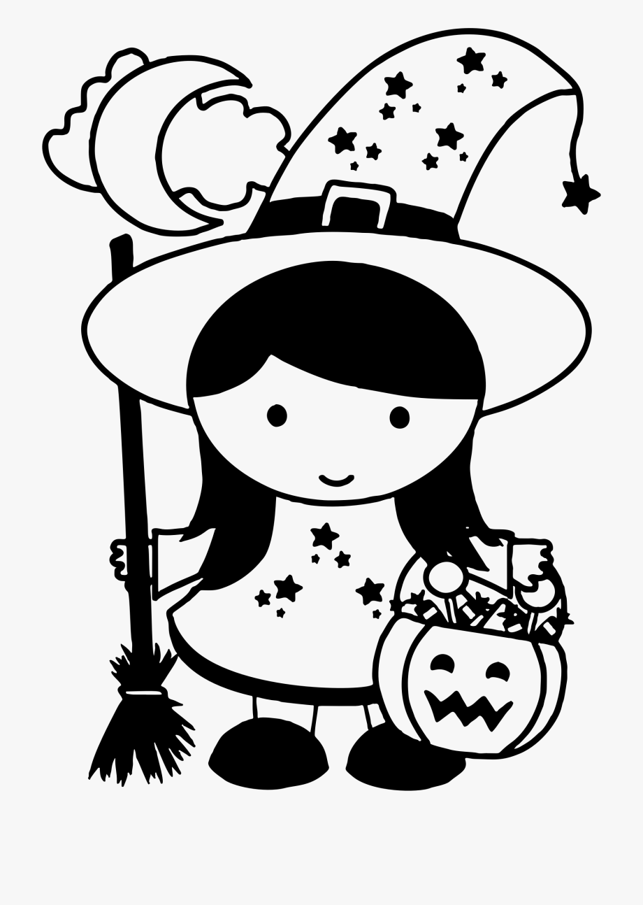 Drawing Witch Halloween.