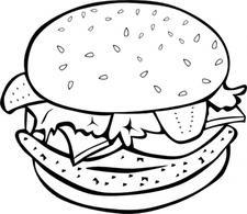 Free Hamburger Cliparts Black, Download Free Clip Art, Free.