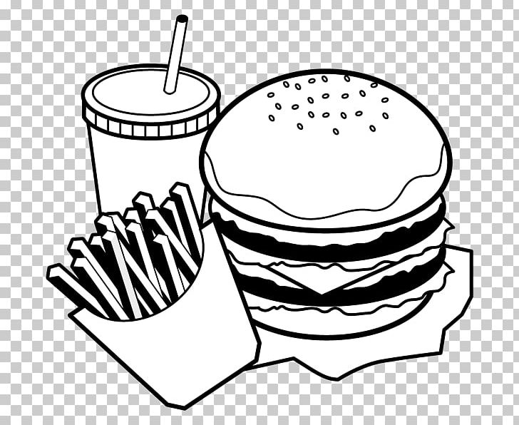Hamburger Black And White Food Monochrome Painting PNG.