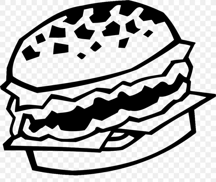 Hamburger Black And White, PNG, 1500x1271px, Hamburger, Ball.