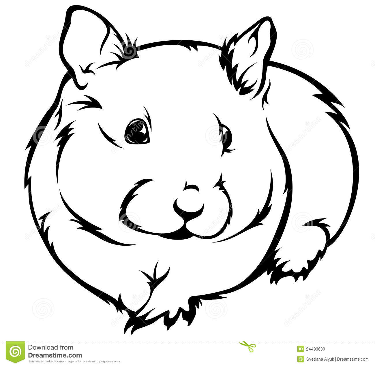 792 Hamster free clipart.