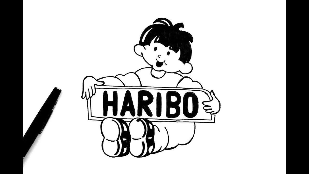 How to draw Haribo Logo.