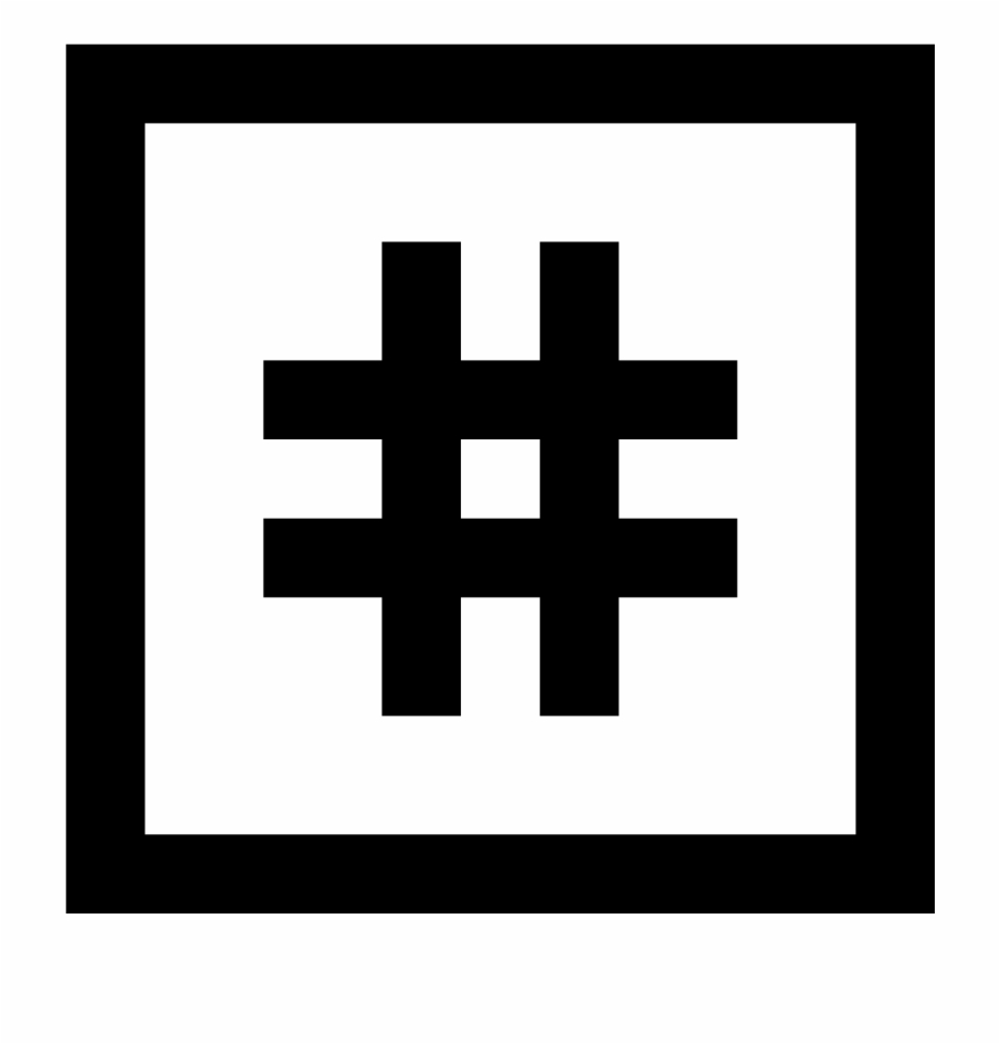 Hashtag Vector Instagram Icon Lightroom Logo Black And.