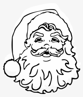 Free Santa Black And White Clip Art with No Background.