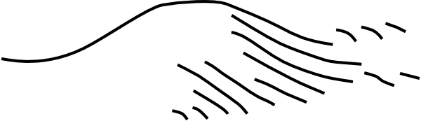 Hill Black And White Clipart.