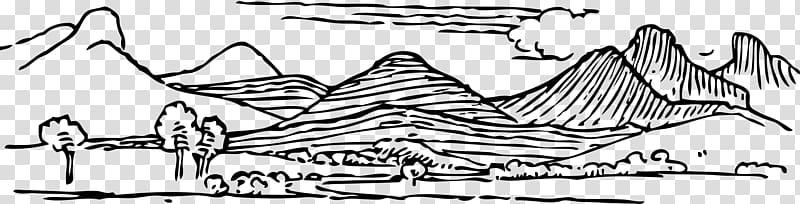 Mountain range , cartoon hill transparent background PNG.