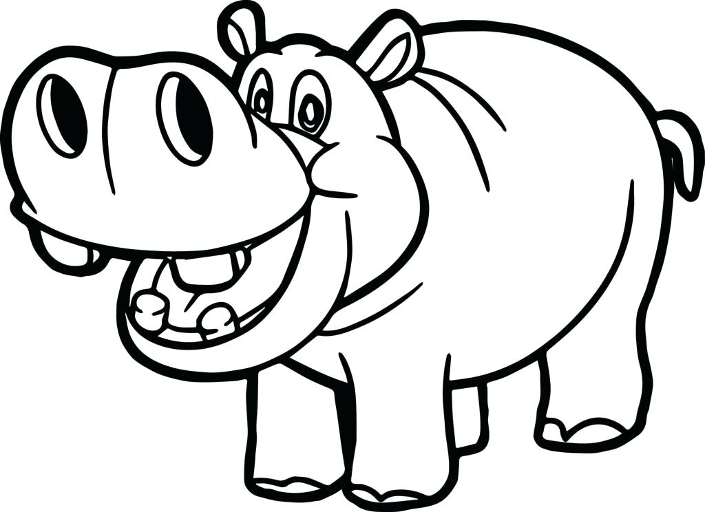 Clipart hippo hippo outline, Clipart hippo hippo outline.