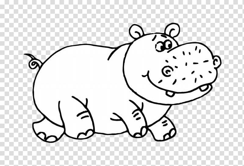 Hippopotamus Puppy Cartoon Polar bear Cuteness, hippo.