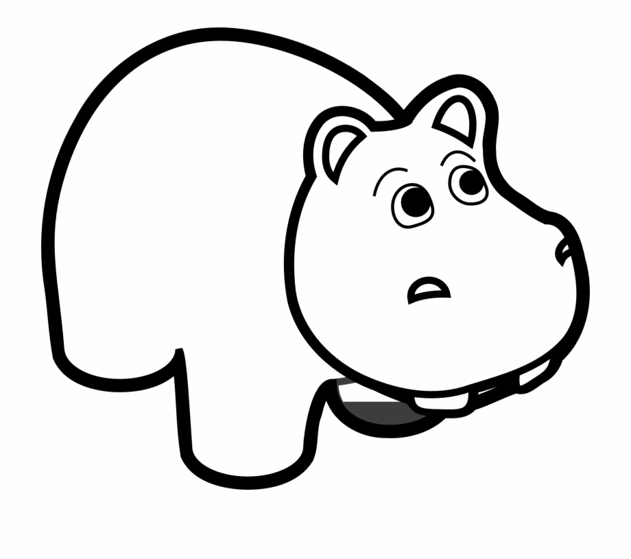 Free Hippopotamus Clipart Black And White, Download Free.