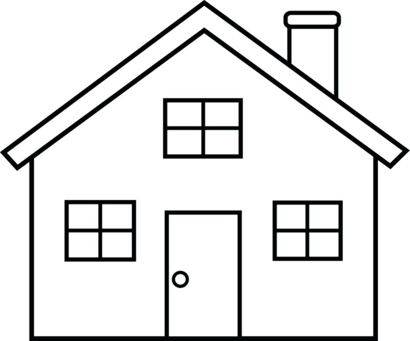 House Clipart Black And White Png.