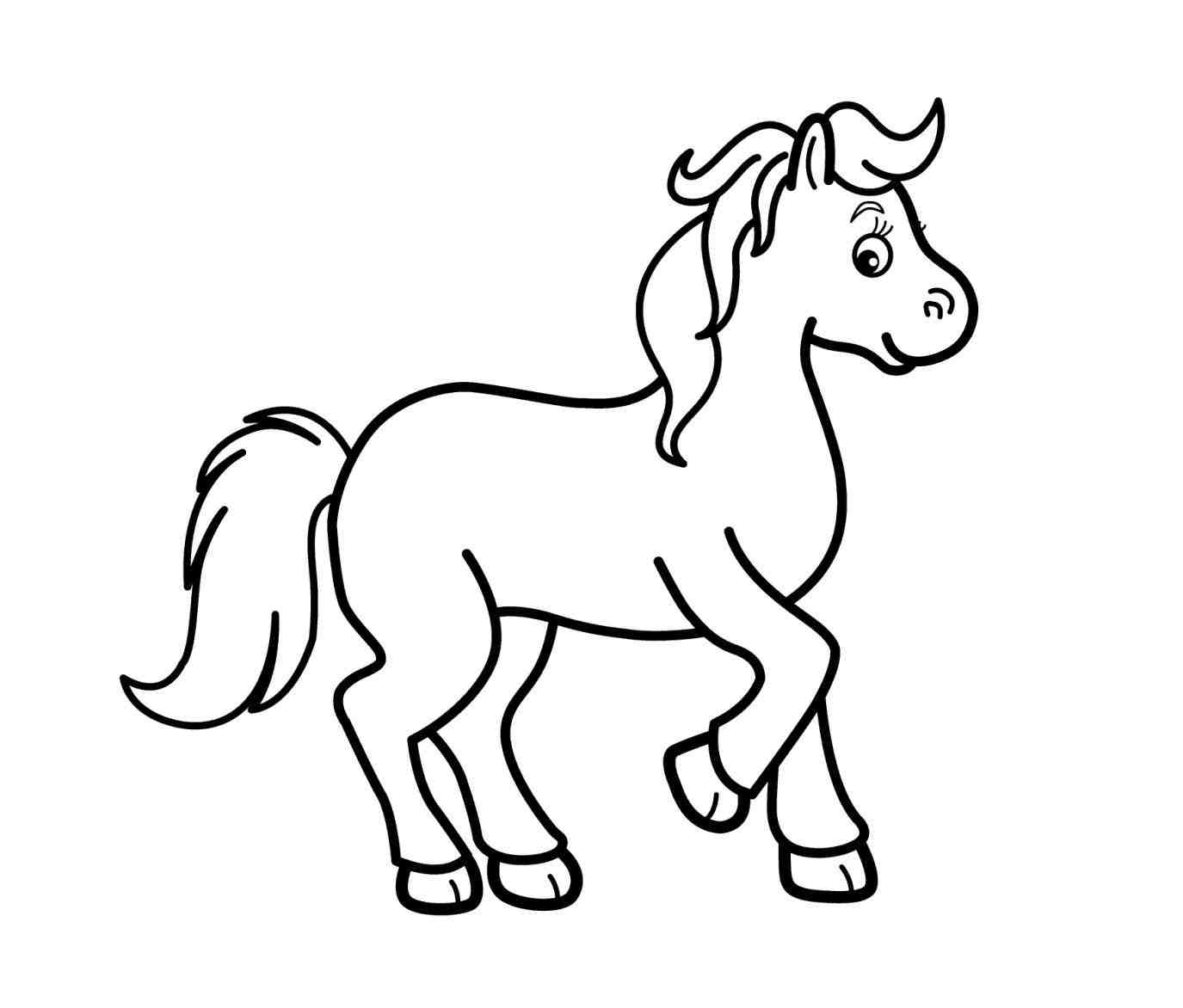 Clipart black and white horse » Clipart Station.