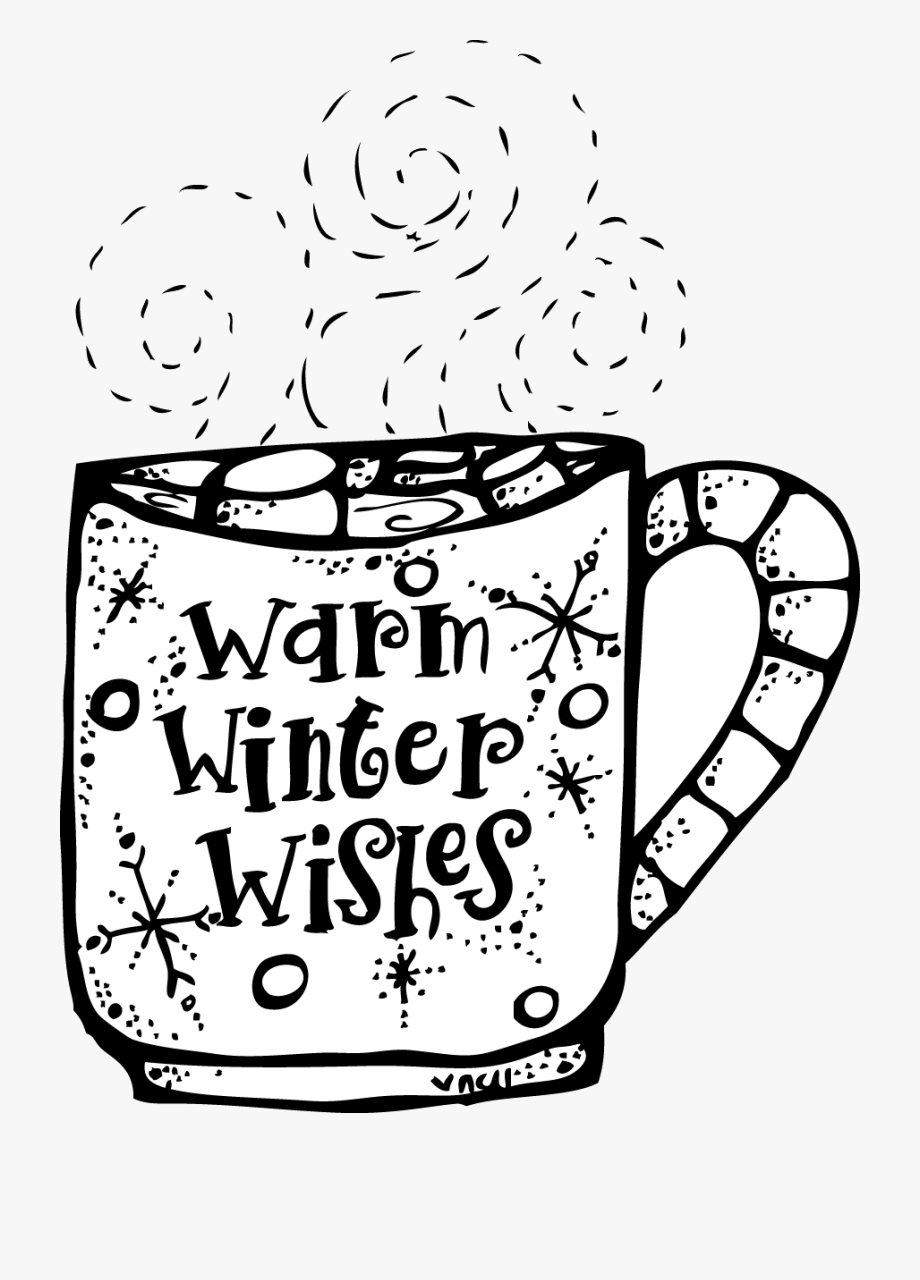 Winter Clipart Black And White Melonheadz Warm Wishes.