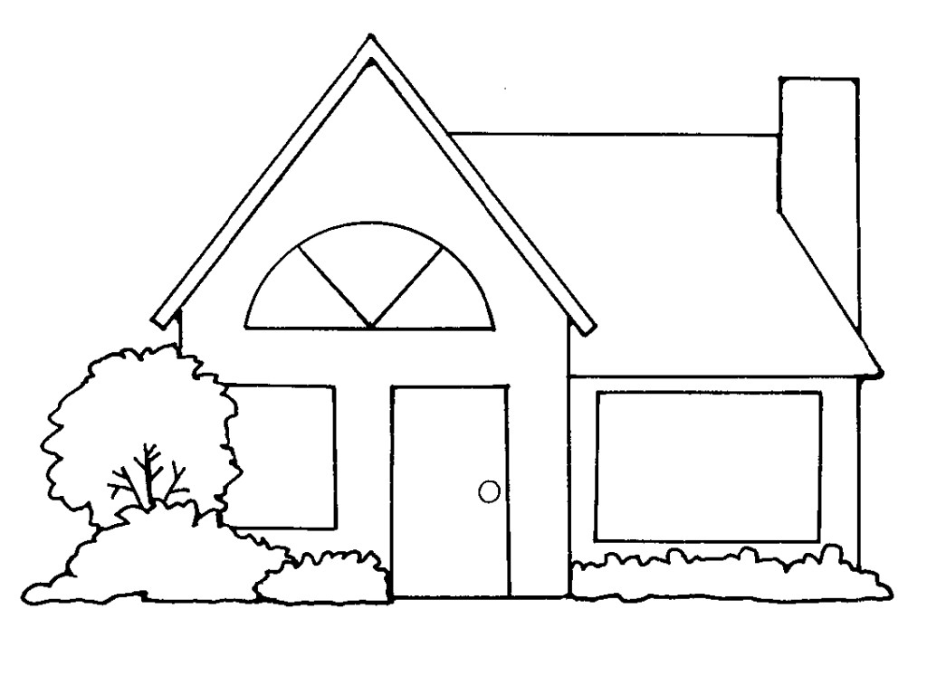 House outline clipart black and white » Clipart Station.