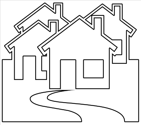 House black and white clip art house outline black and white.