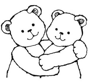 Bear Hugs Coloring Page.