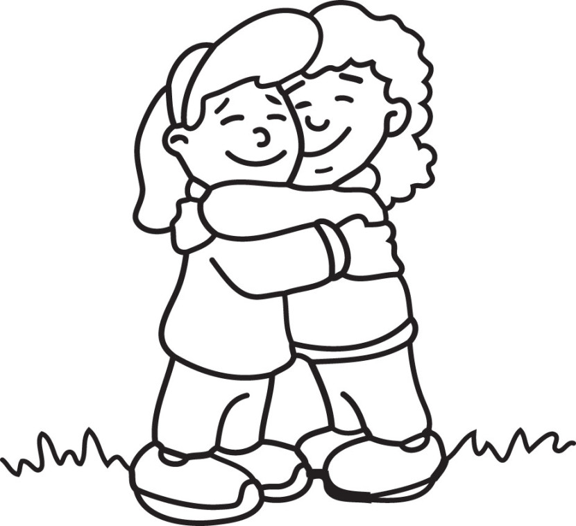 Free Hug Clipart Black And White, Download Free Clip Art.
