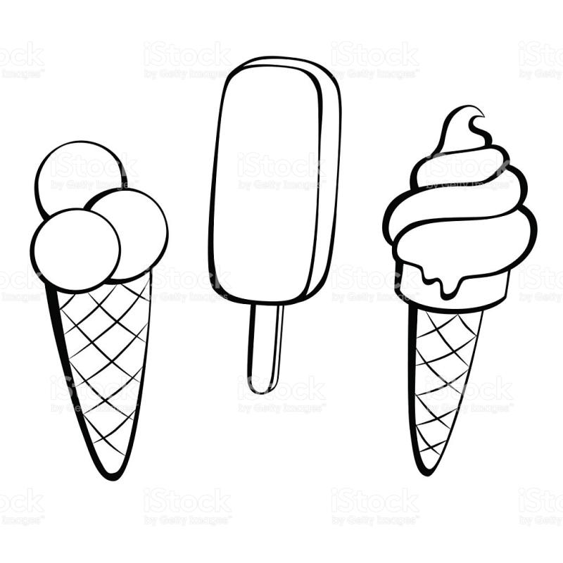 Download sweet cartoon black and white clipart Ice cream Clip art.