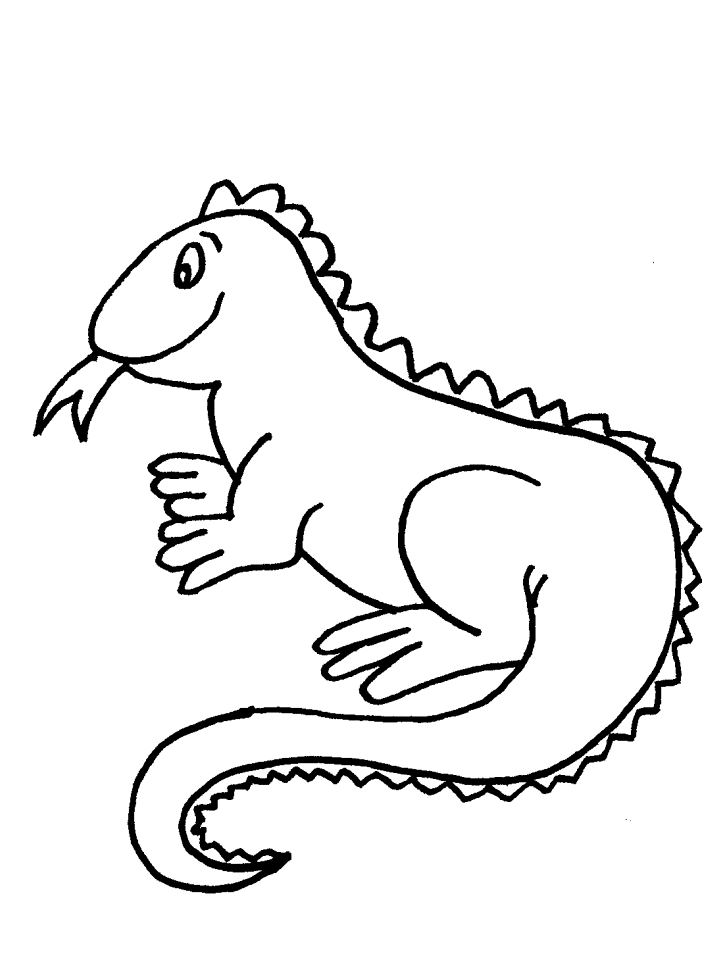 Free Iguana Clipart Black And White, Download Free Clip Art.
