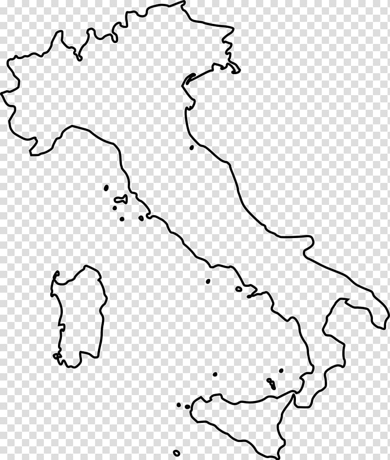Regions of Italy Blank map Map, italy transparent background.