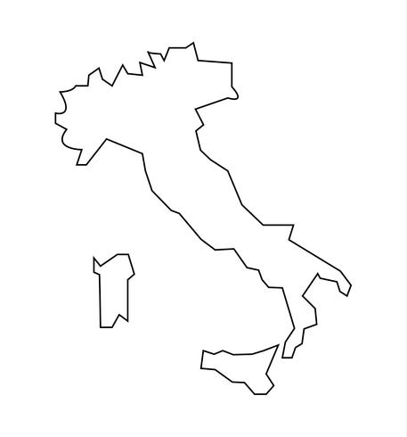 Italy and islands map.