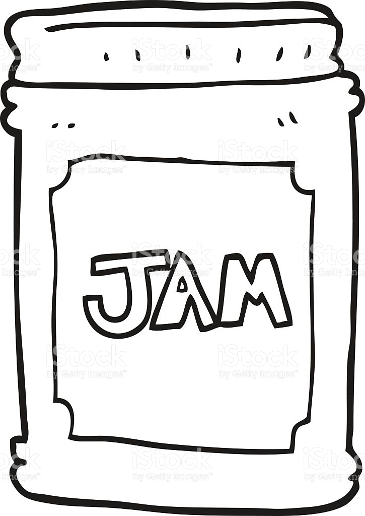 Jam clipart black and white 1 » Clipart Station.